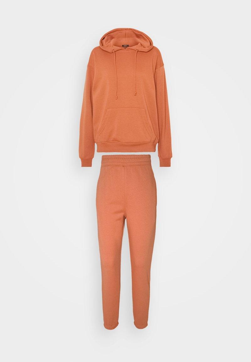 Missguided - HOODIE SET - Sweatshirts - rust