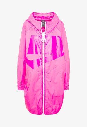 Zimní kabát - hyper pink/white