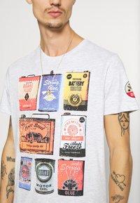 Brave Soul - T-shirt print - ecru marl - 3