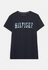 Tommy Hilfiger - FLORAL TEE - T-shirt z nadrukiem - blue - 3