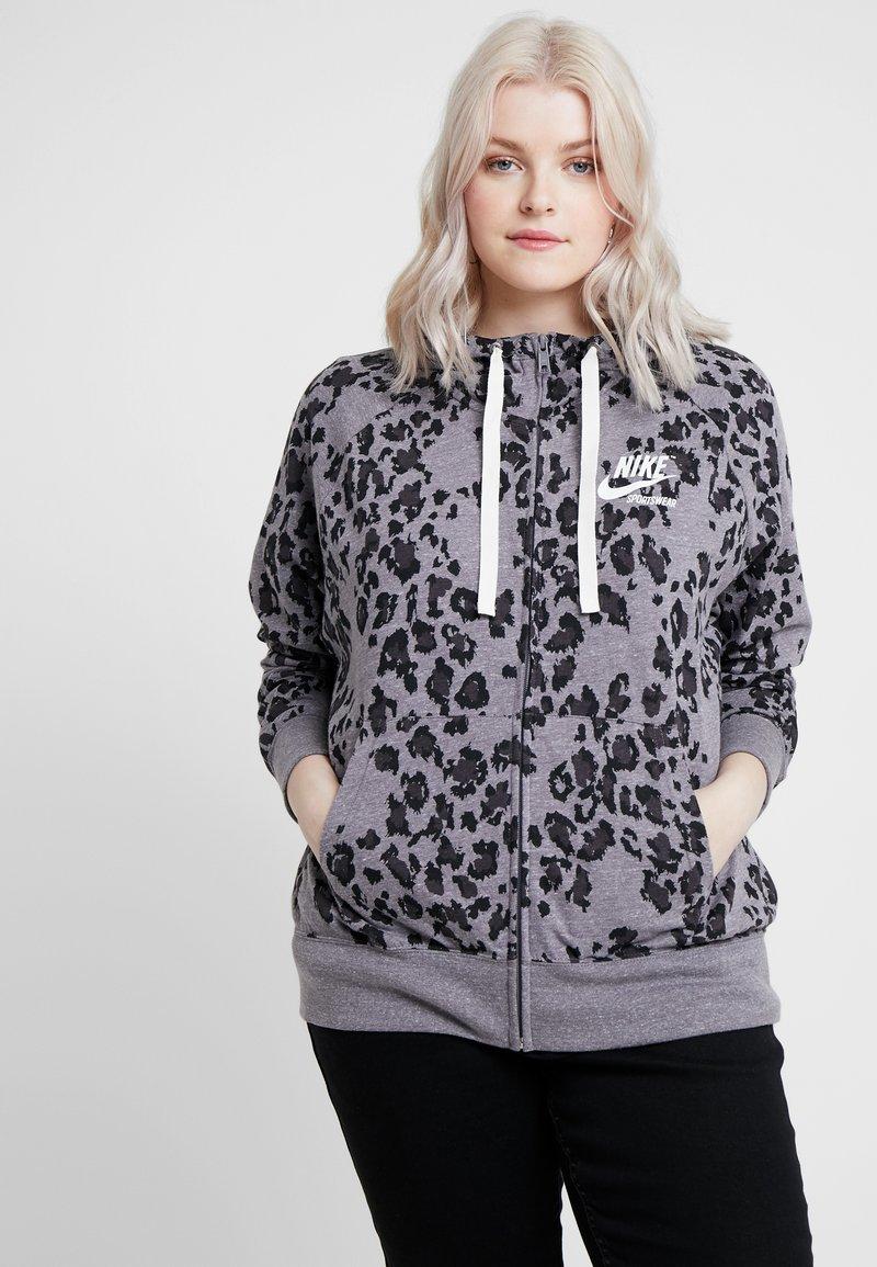 Nike Sportswear - GYM PLUS - Cardigan - grey/anthracite