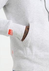 Superdry - LABEL ZIPHOOD - Zip-up hoodie - ice marl - 5
