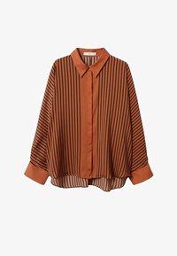 Mango - Button-down blouse - marrón - 4