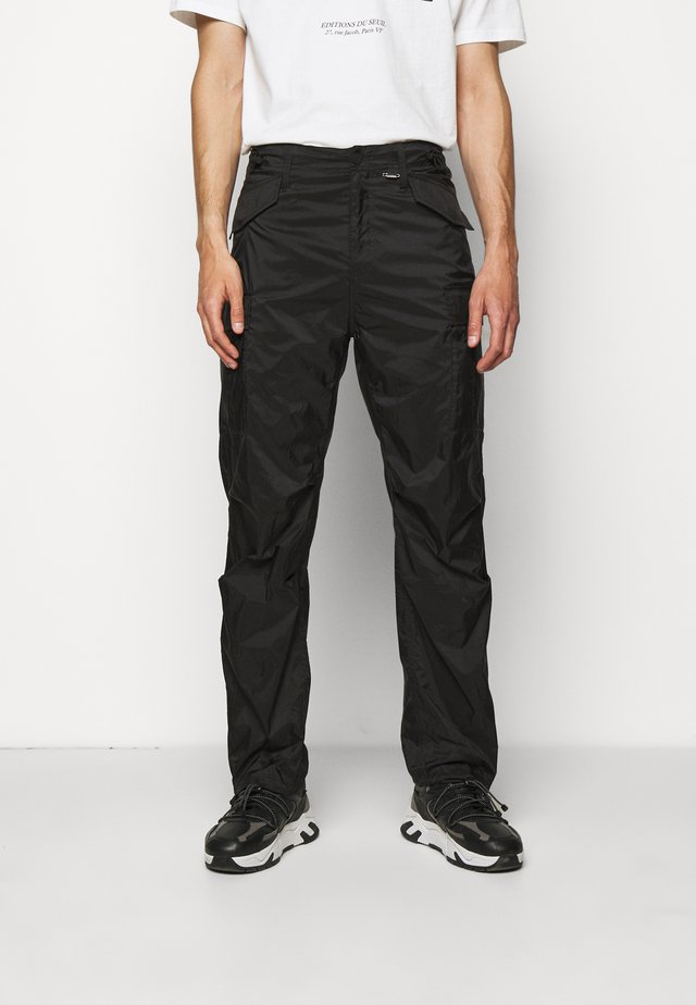 TRANSLUCENT PANTS - Pantaloni cargo - black