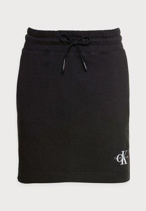 MONOGRAM HEAVYWEIGHT SKIRT - Minifalda - black
