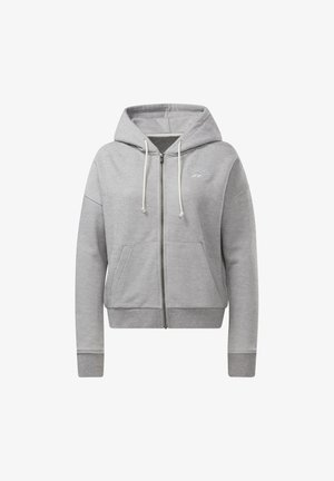 TRAINING ESSENTIALS LOGO - Zip-up hoodie - grey