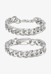 Hikari - THICK 2 ROW 2 PACK - Bracelet - silver-coloured - 4