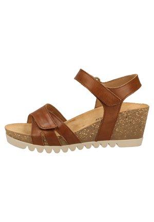 Sandales compensées - peanut 24