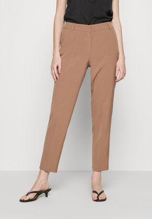ONLVILDA ASTRID CIGARETTE PANT - Trousers - brownie