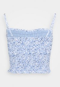 Abercrombie & Fitch - STRAPLESS SMOCKED - Top - blue - 1