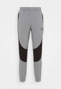 medium gray heather/black