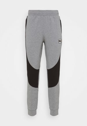 DIME PANT - Tracksuit bottoms - medium gray heather/black