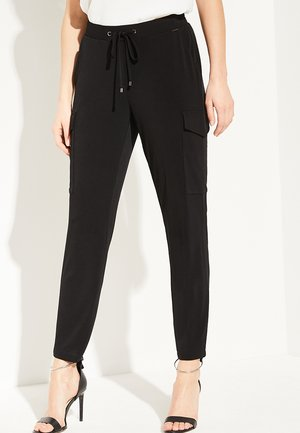 REGULAR FIT - Cargo trousers - black