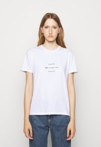 Progetto Quid - UNISEX MENTA - T-shirts med print - white - 1