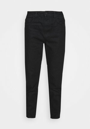 HIGH RISE TAPERED MOM JEANS - Relaxed fit jeans - black