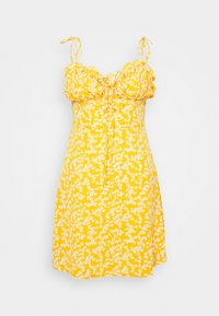 Glamorous - CARE PRINTED MINI DRESS WITH SHOULDER TIE DETAIL - Kjole - yellow - 3