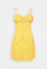 Glamorous - CARE PRINTED MINI DRESS WITH SHOULDER TIE DETAIL - Hverdagskjoler - yellow - 3