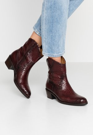 Stivaletti texani / biker - dark red