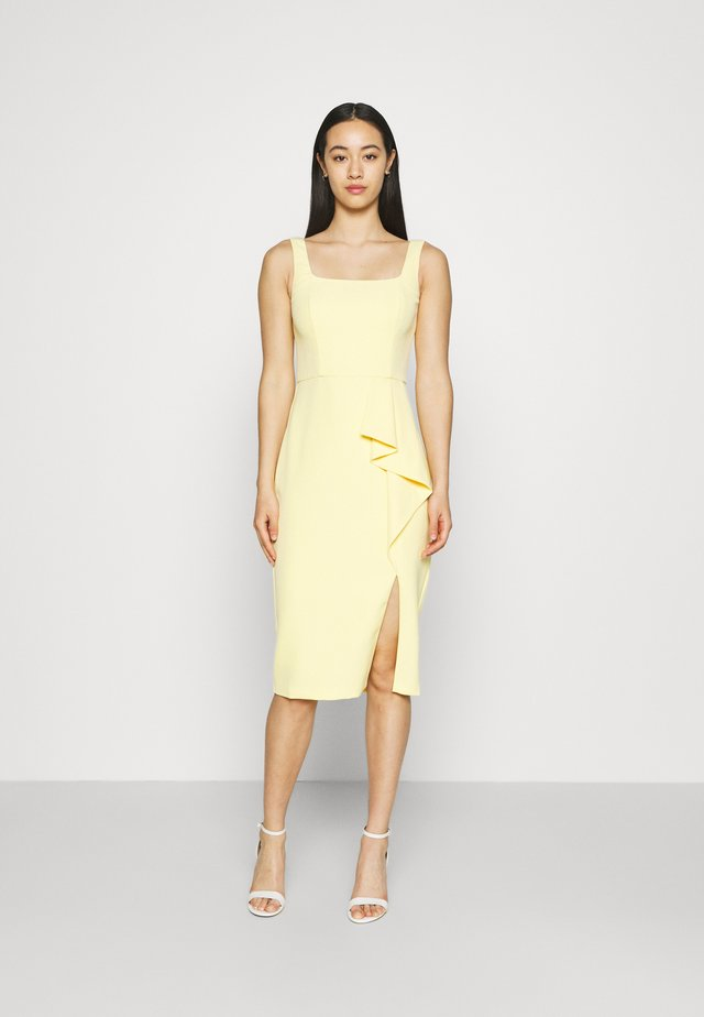 EMILY SQUARE NECK MIDI DRESS - Etui-jurk - soft pollen