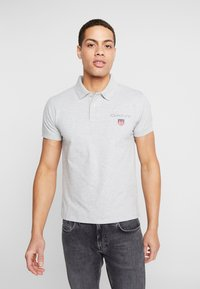GANT - MEDIUM SHIELD RUGGER - Polo - light grey melange - 0