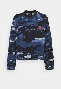 G-Star - LOOSE FIT CAMO CREWNECK - Sweater - faze blue multi - 6