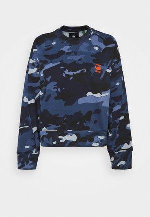 LOOSE FIT CAMO CREWNECK - Sweatshirt - faze blue multi