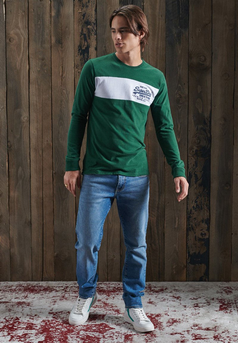 Men PANEL LONG SLEEVE  - Print T-shirt