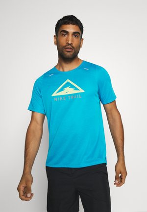 RISE TRAIL - Print T-shirt - laser blue/barely volt