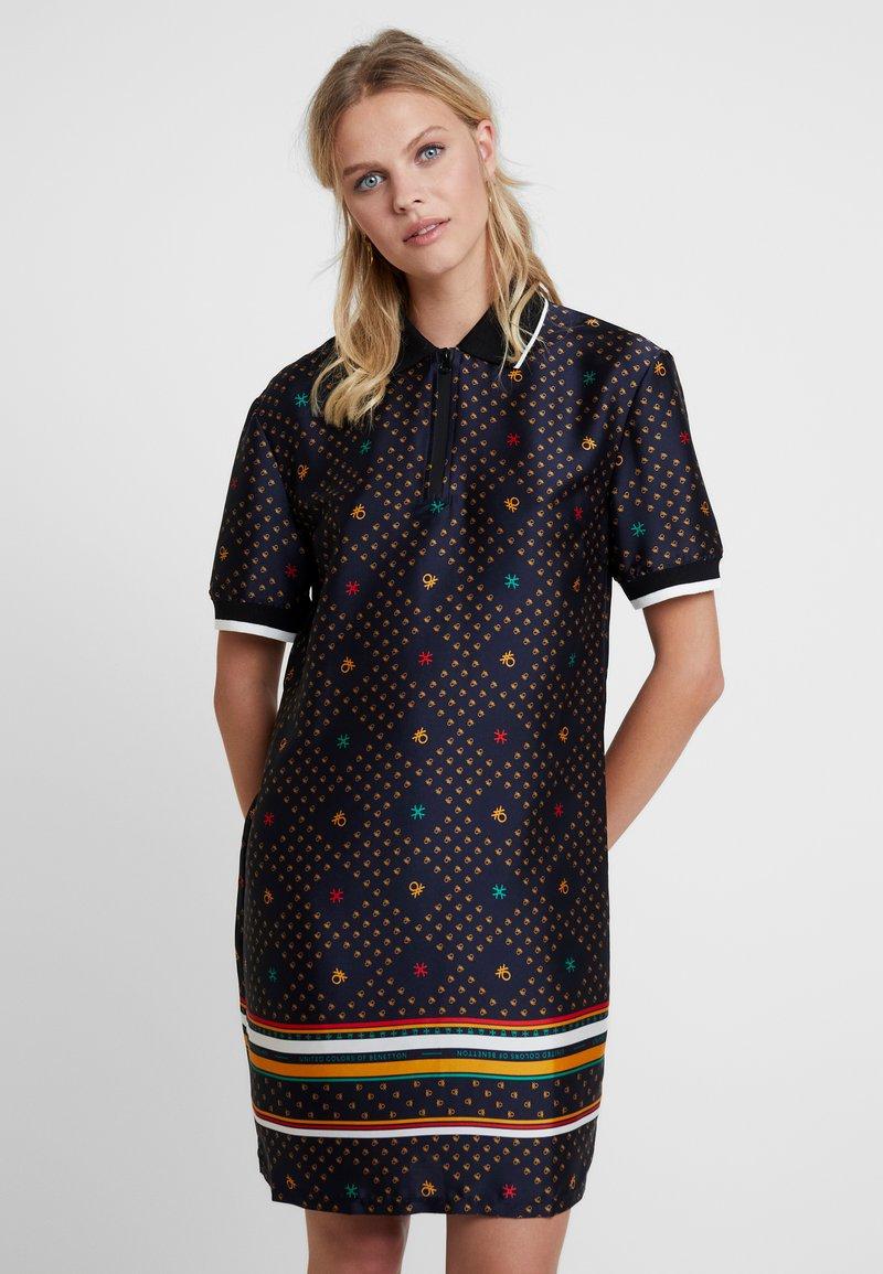 Benetton - DRESS - Shirt dress - blue