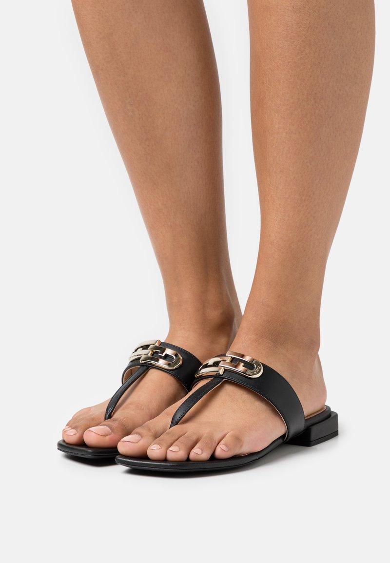 Furla - CHAIN THONG - T-bar sandals - nero