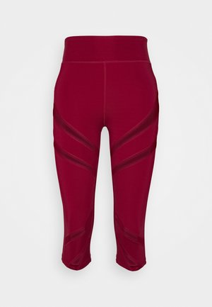 3/4 sports trousers - dark red