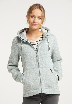 Fleece jacket - rauchmint melange