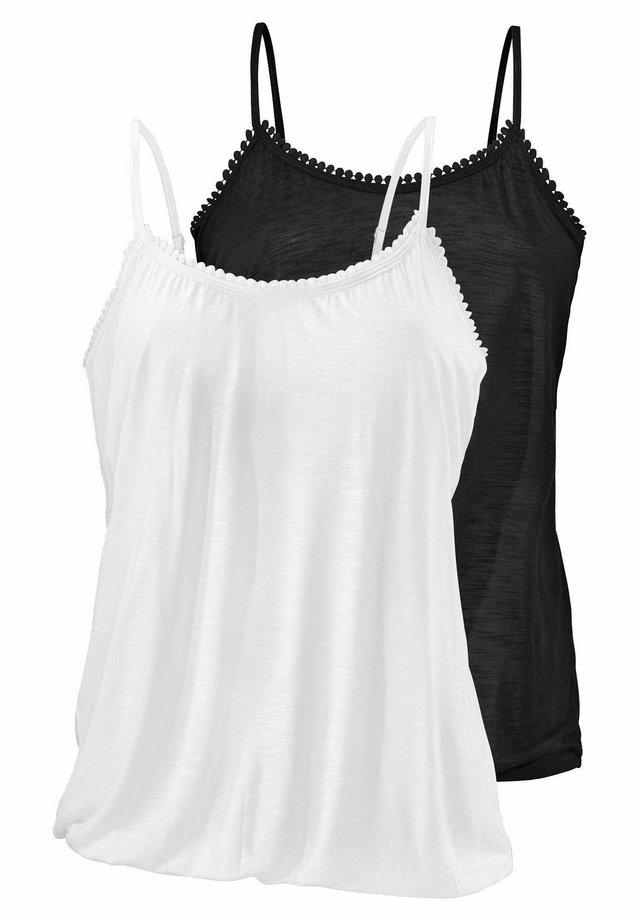 2PACK - Beach accessory - schwarz+weiß