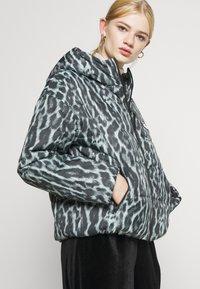 Nike Sportswear - Winter jacket - smoke grey/black/white - 3