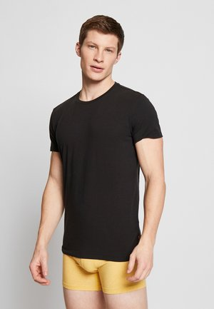 SOLID CREW 2 PACK - Undershirt - jet black