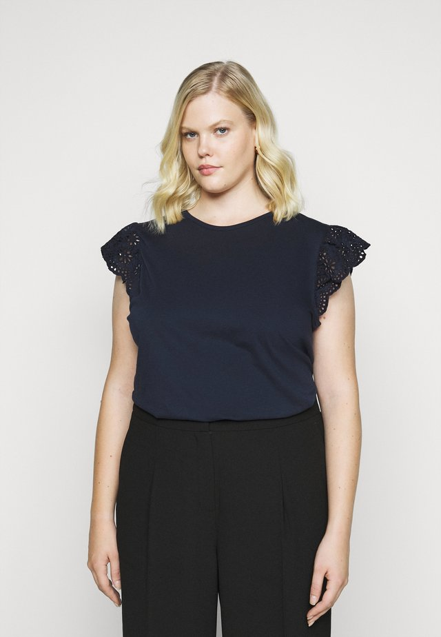 SHARIKA SHORT SLEEVE - Basic T-shirt - lauren navy