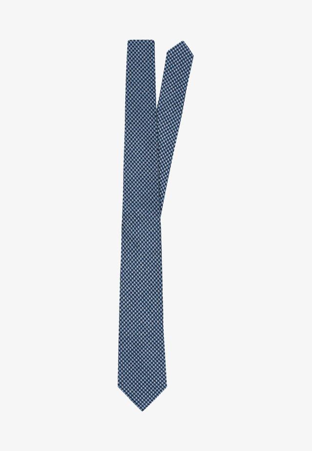 SLIM MINI DOGTOOTH  - Tie - blue