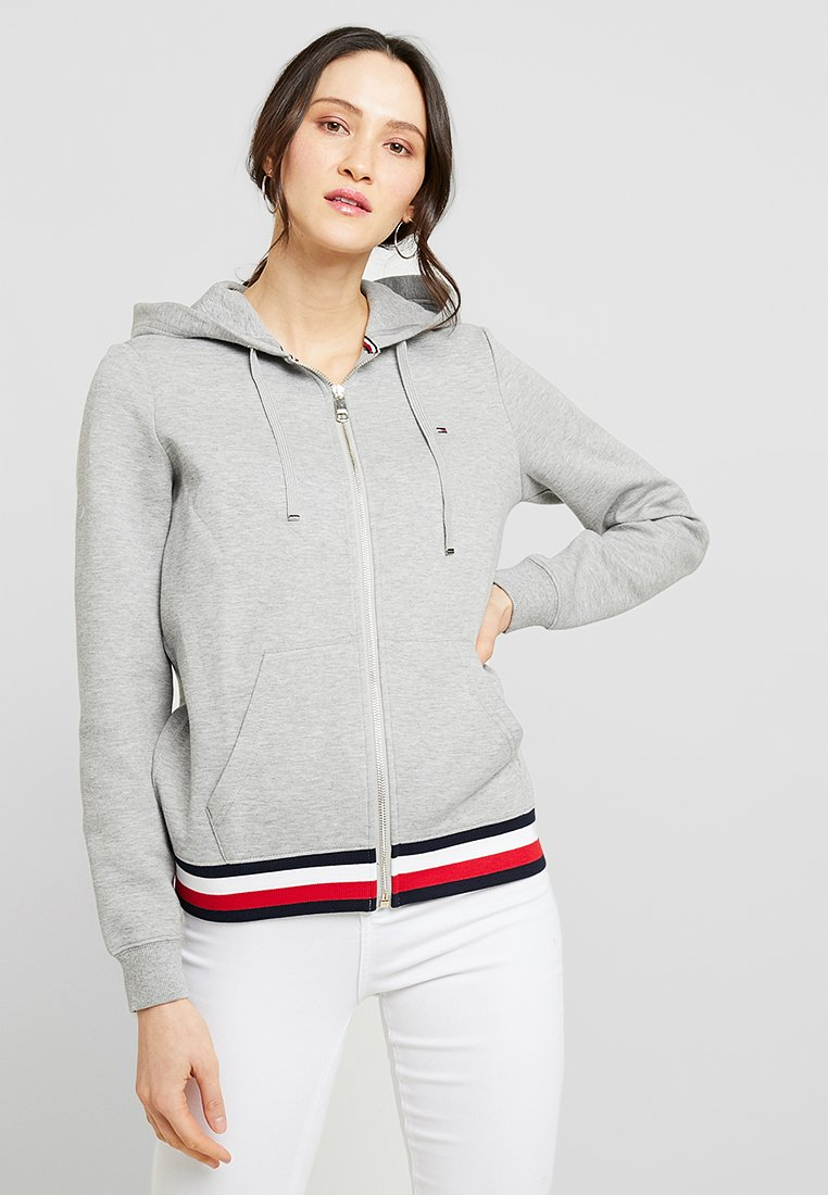 Tommy Hilfiger - HERITAGE ZIP THROUGH HOODIE - Hettejakke - light grey