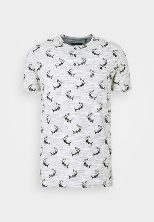MAKO - Print T-shirt - ecru marl/light grey/charcoal