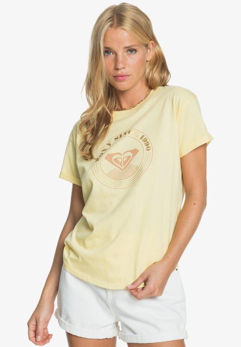 Roxy - Print T-shirt - pale banana