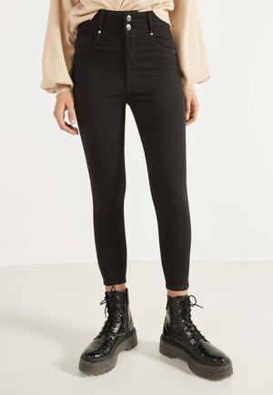 MIT DOPPELTEM BUND - Jeans Skinny Fit - black