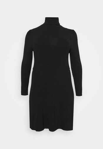 MINI DRESS WITH LONG SLEEVES AND ROLL NECK