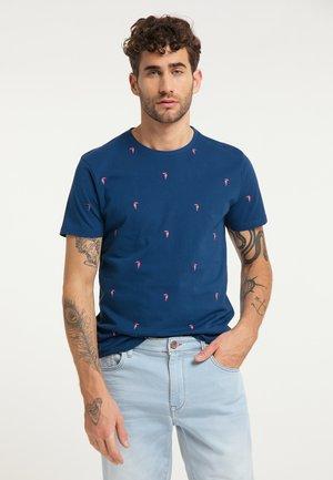 Print T-shirt - dark capri