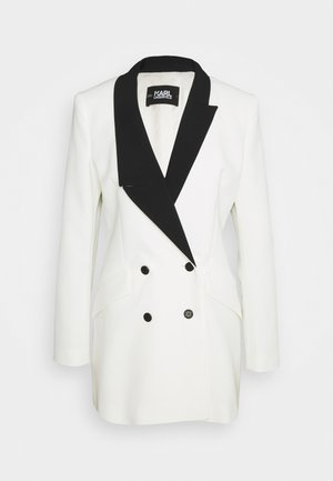 BLAZER DRESS WITH LAPELS - Blazer - white