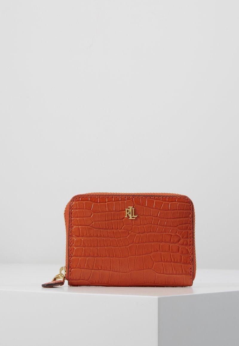 Lauren Ralph Lauren - MINI CROC EMBOSS ZIP WLLET - Wallet - sailing orange