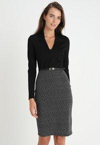 Anna Field - Shift dress - offwhite/black - 0