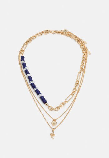 BEAD AND CHAIN MULTIROW NECKLACE 3 PACK - Necklace - gold-coloured