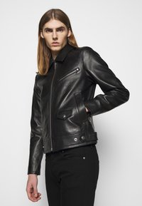 The Kooples - BIKER JACKET - Kurtka skórzana - black
