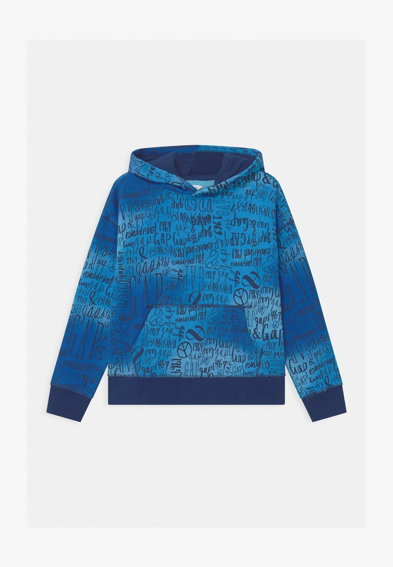 GAP - BOY PRINT HOOD - Sweatshirt - blue