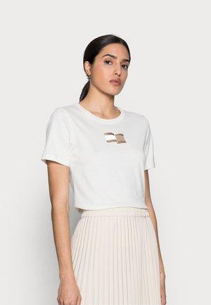 ICON SLIM OPEN TOP - Print T-shirt - white